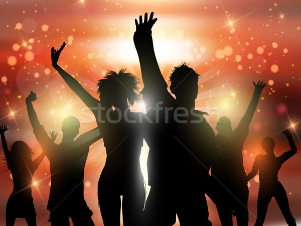 Party people background Stock photo © kjpargeter