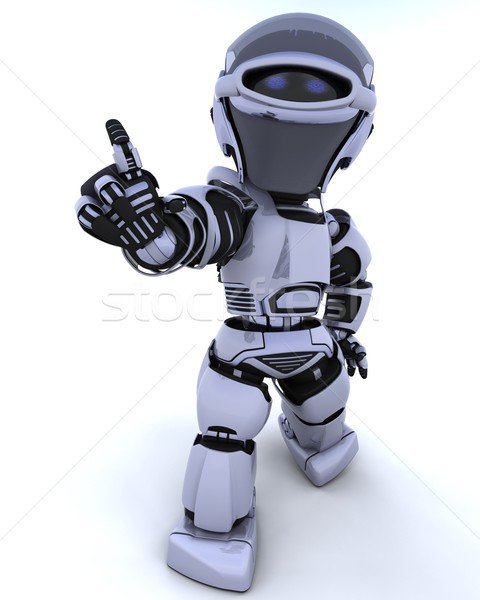 Photo stock: Cute · robot · cyborg · rendu · 3d