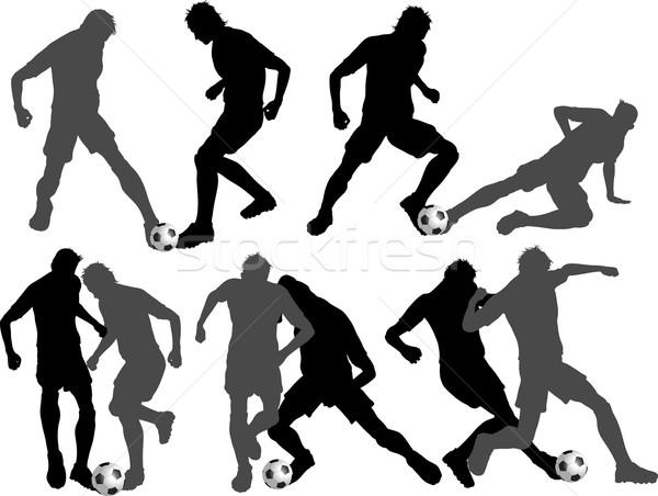 Footballers Stock photo © kjpargeter