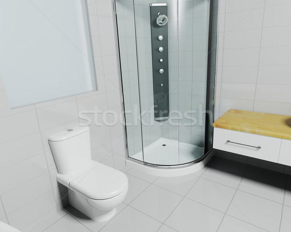 Contemporary bathroom Stock photo © kjpargeter