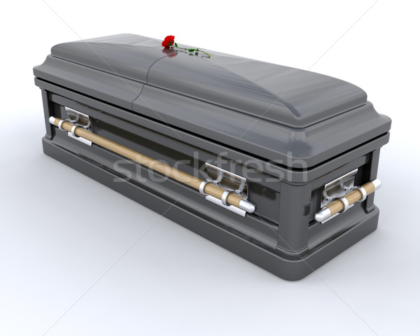 Burial Casket Stock photo © kjpargeter