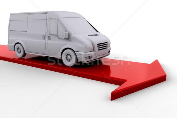 Delivery van Stock photo © kjpargeter