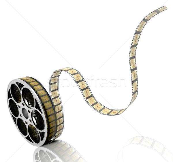 Rolo de filme 3d render filme fita filmes objeto Foto stock © kjpargeter