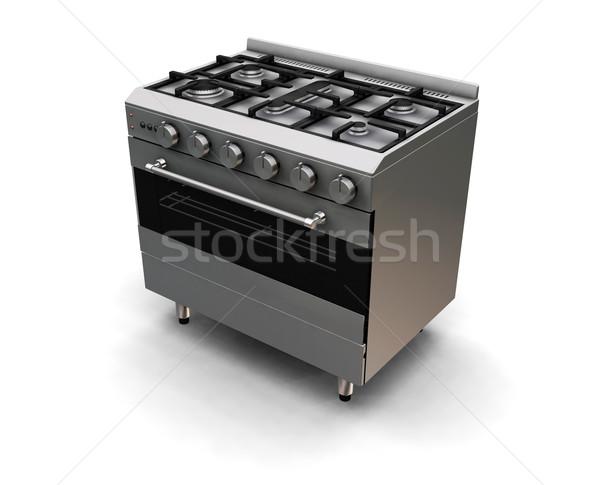 Piekarnik 3d gazu gotować ilustracja Zdjęcia stock © kjpargeter