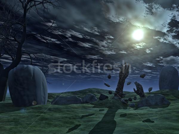3D Хэллоуин зомби рук 3d визуализации из Сток-фото © kjpargeter
