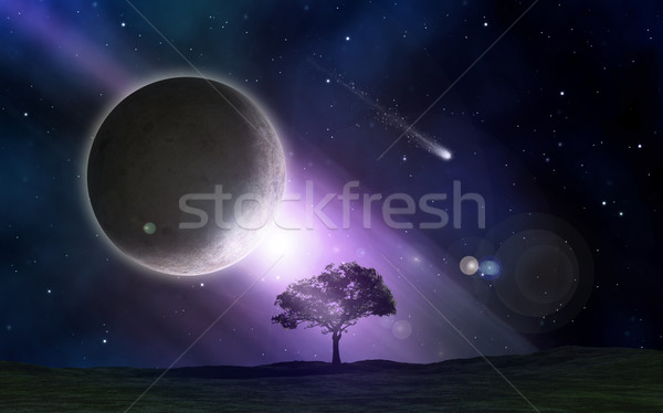 Abstract space scene Stock photo © kjpargeter
