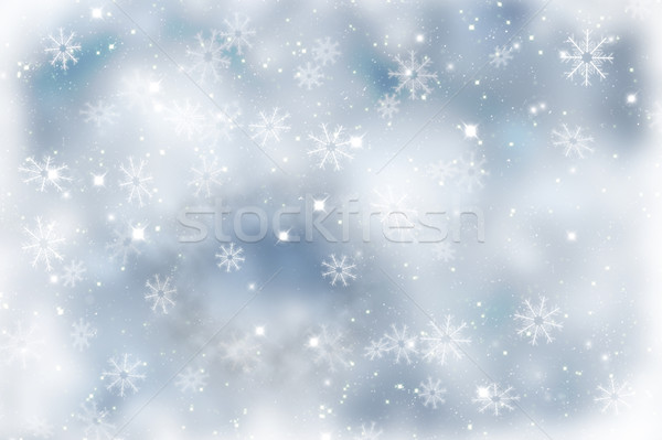 Sparkly Christmas background with snowflakes Stock photo © kjpargeter