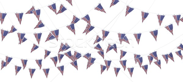stars and stripes bunting and pennants Stock photo © kjpargeter
