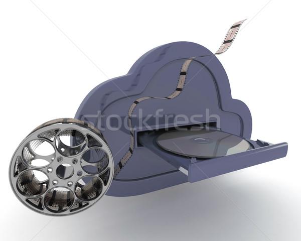 Online raktár felhő 3d render információ Stock fotó © kjpargeter