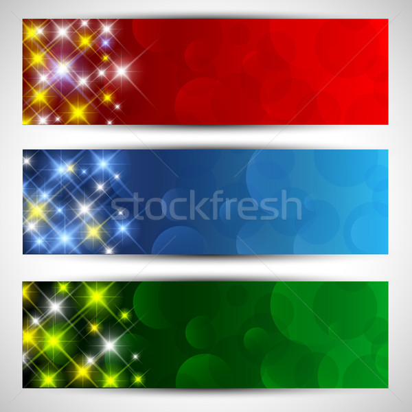 Christmas starry banners Stock photo © kjpargeter