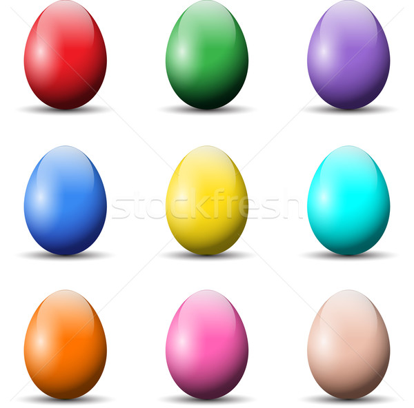 Colourful Easter Eggs Stock photo © kjpargeter