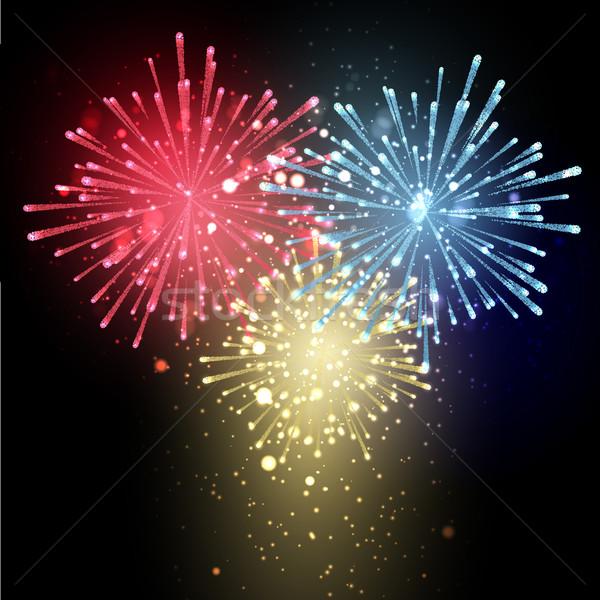 Fireworks background  Stock photo © kjpargeter