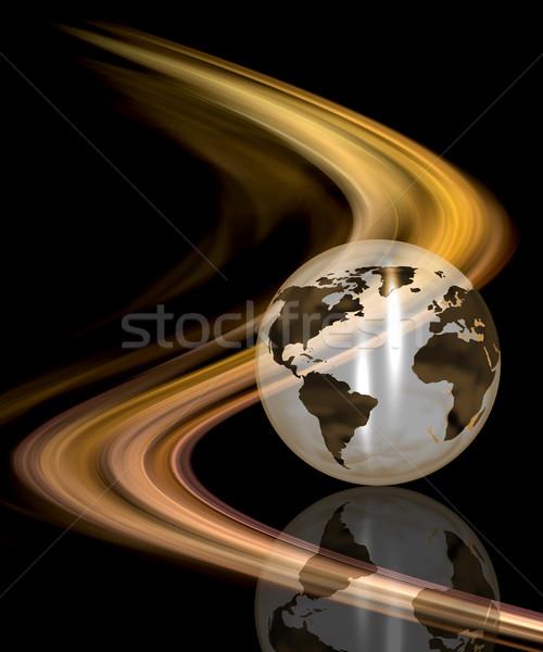 抽象的な 世界中 地図 世界 背景 芸術 ストックフォト © kjpargeter