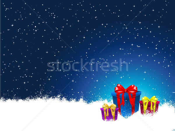 Stock fotó: Karácsony · ajándékok · csillagok · ajándék · ajándék · ünnep