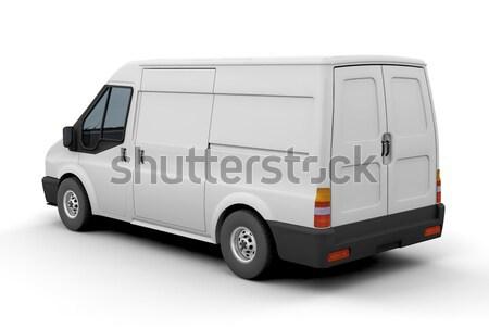 Stock fotó: Kisteherautó · 3d · render · üzlet · teherautó · ipar · kerék