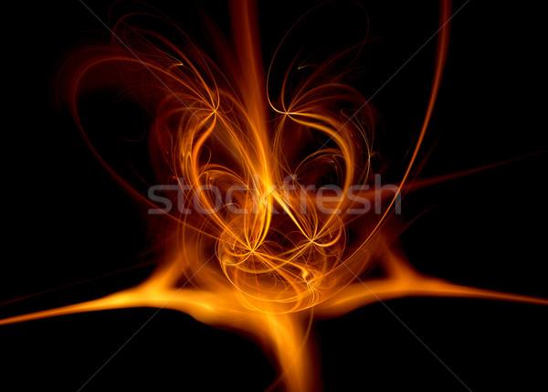 Ateşli soyut renkler dizayn sanat dijital Stok fotoğraf © kjpargeter
