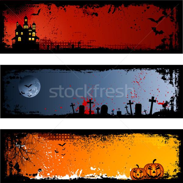 Zdjęcia stock: Halloween · środowisk · trzy · inny · krzyż