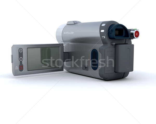 Numérique caméra vidéo rendu 3d télévision film cinéma Photo stock © kjpargeter