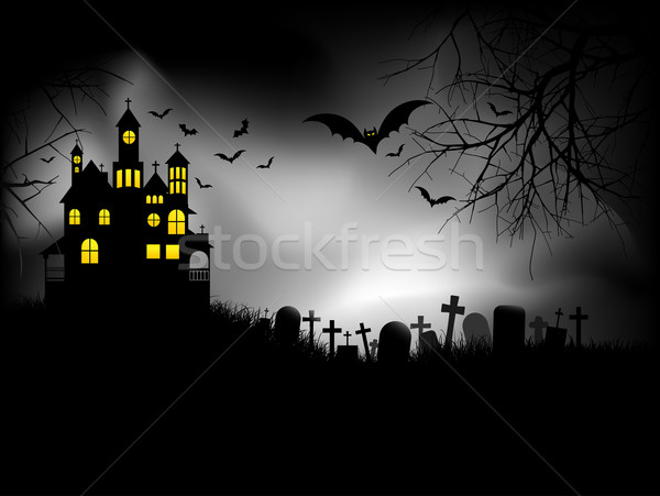 Haunted house Stock photo © kjpargeter