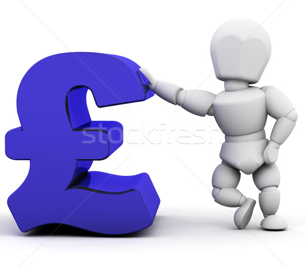 Person leaning on pound sign Stock photo © kjpargeter