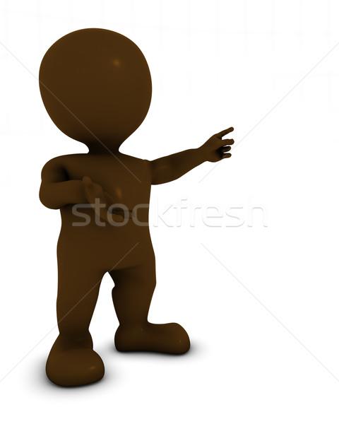 3D Morph Man Presenting Stock photo © kjpargeter