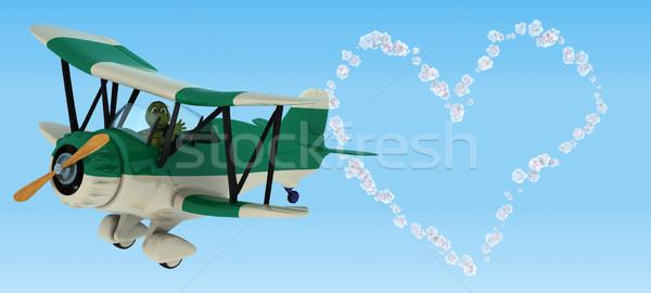 3d визуализации черепаха воды оболочки черепахи среде Сток-фото © kjpargeter