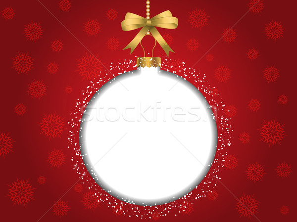 Christmas cacko tekst śniegu tle Zdjęcia stock © kjpargeter