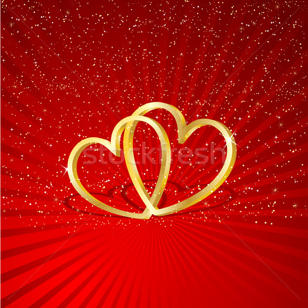 Interlocking hearts Stock photo © kjpargeter