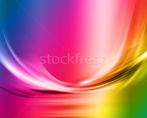 радуга аннотация спектр цветы фон дым Сток-фото © kjpargeter
