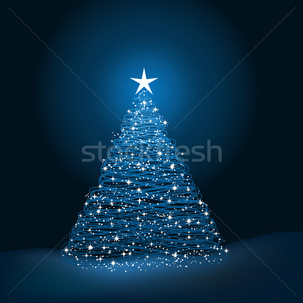 Kerstboom boom abstract kleur christmas kleur Stockfoto © kjpargeter