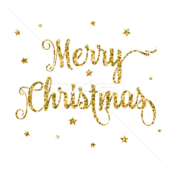 Glittery merry Christmas background  Stock photo © kjpargeter