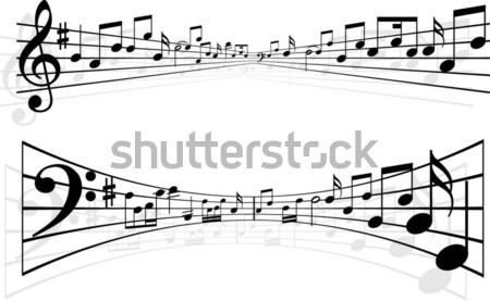 Foto stock: Notas · musicales · resumen · diseños · música · nota · notas