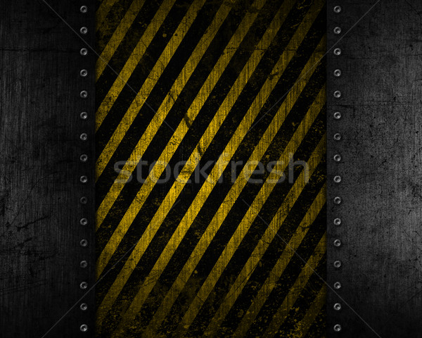 Grunge metal giallo nero texture abstract Foto d'archivio © kjpargeter