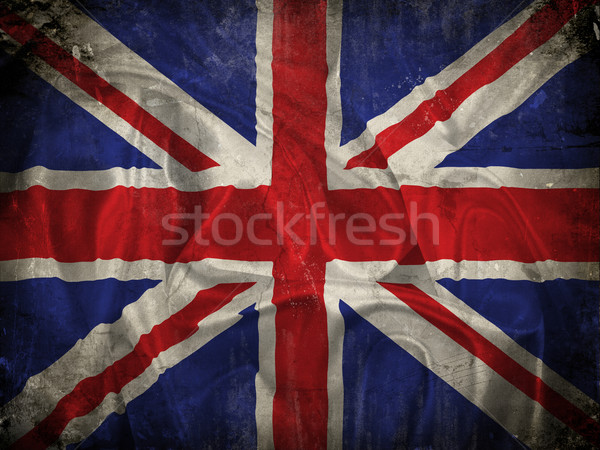 Grunge Union Jack flag background Stock photo © kjpargeter