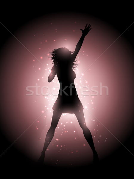 Female singer performing Stock photo © kjpargeter