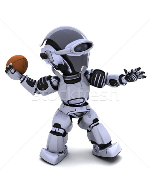 Robot jouer football rendu 3d sport Photo stock © kjpargeter