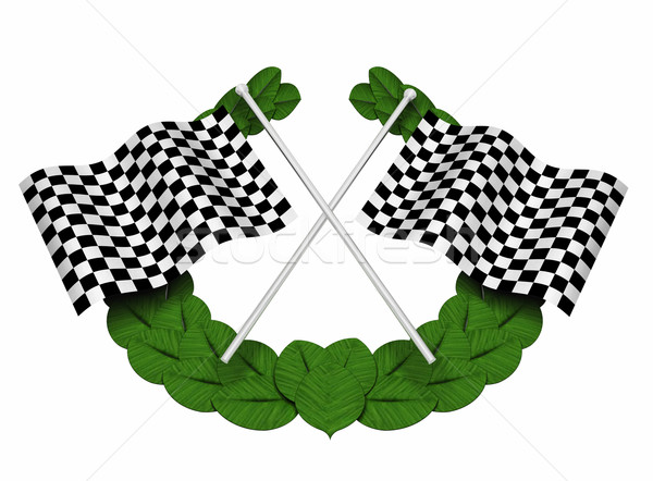 Chequered flags Stock photo © kjpargeter