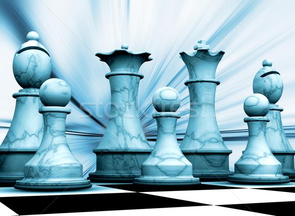 Sakkfigurák absztrakt háttér sakk kastély verekedés Stock fotó © kjpargeter