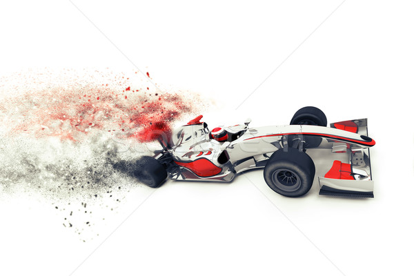 Superfast 3D generic race car  Stock photo © kjpargeter