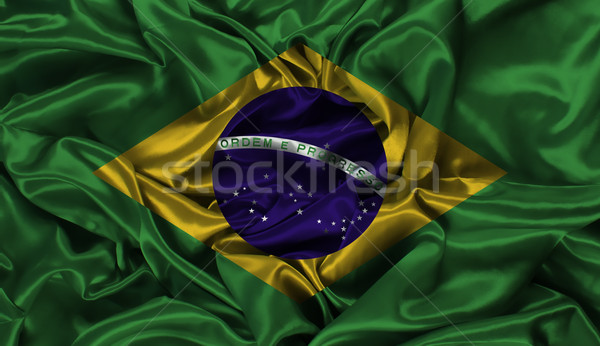 Brazil flag background Stock photo © kjpargeter