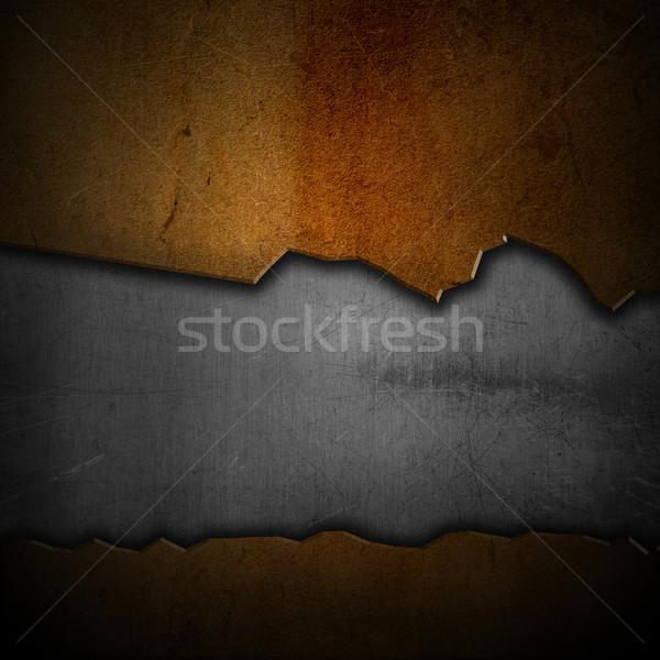 Scratched grunge metal background Stock photo © kjpargeter