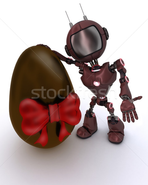 Android with easter egg Stock photo © kjpargeter