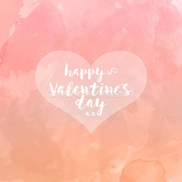 Kalp Suluboya Sevgililer Günü Kalp şekli Sevmek Boya