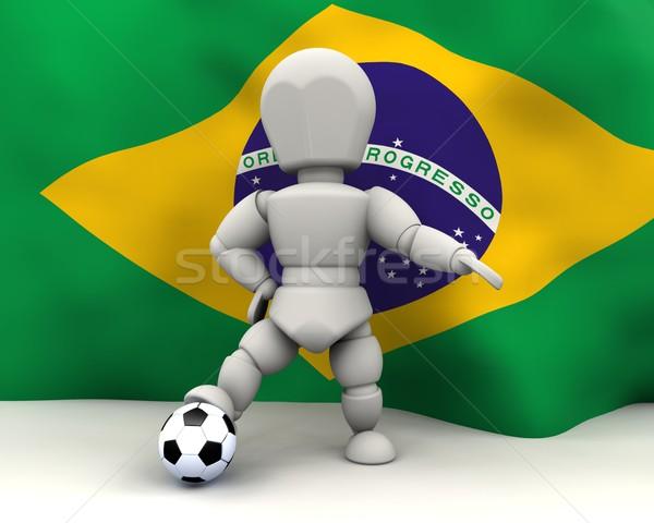 Wereld beker voetbal teams 2010 3d render Stockfoto © kjpargeter