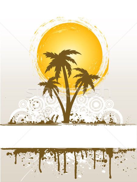 Grunge palm tree Stock photo © kjpargeter