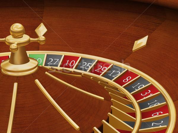 Rueda de la ruleta 3d fondo pelota casino círculo Foto stock © kjpargeter
