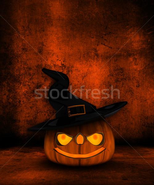 Stockfoto: Grunge · halloween · 3D · vintage · horror · vieren