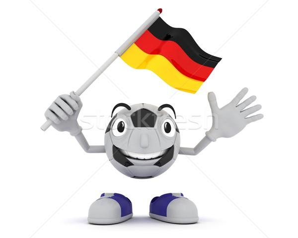 Futbol maskot bayrak 3d render Stok fotoğraf © kjpargeter