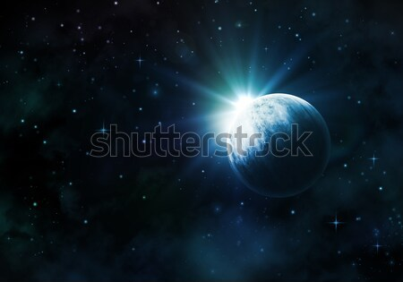 Night sky with fictional planet Stock photo © kjpargeter