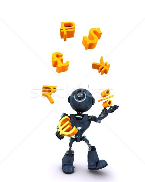 Robot juggling balls Stock photo © kjpargeter